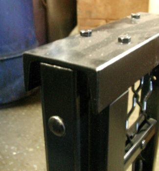 "The cap channel for our 200HD panels is a 3"" x 4.1# steel channel. Very sturdy and secure."