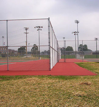 Chain Link Fence around Tennis Court